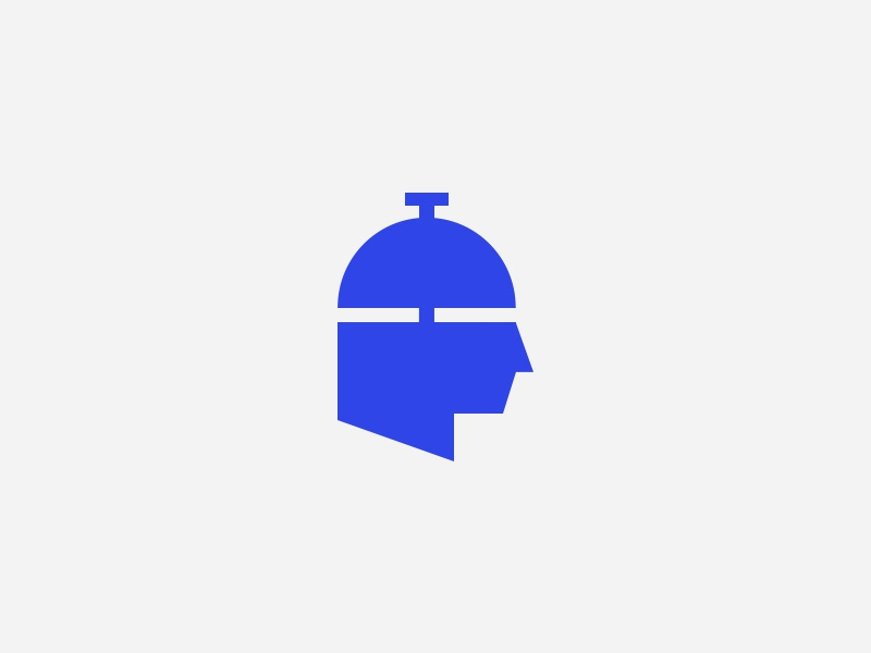 Logo Design Concept smart intelligent brain think hop bell concierge hotel