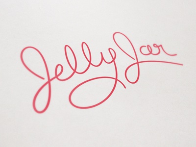 Jelly Jar Logo Exploration custom type jelly jar