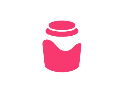 Jelly Jar Logo jelly jar negative space logo design kolage eric hoffman