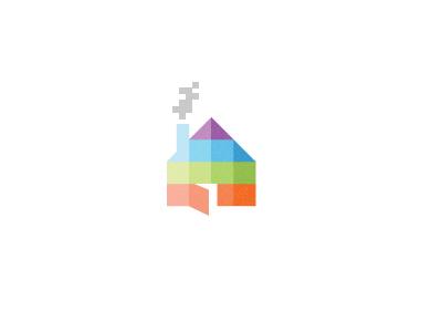 Pixel House Logo By Sean Farrell Dribbble Dribbble
