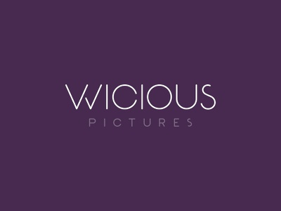 Wicious Pictures design logo movie movies pictures theater film production studios wicious