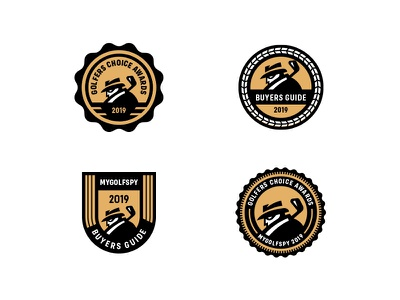 MyGolfSpy Badges logodesign design badge logo lockup seal award crest badge