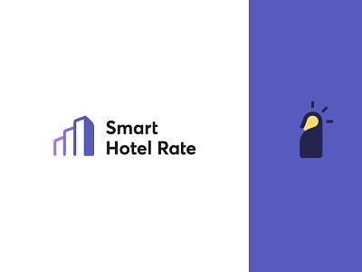 Smart Hotel Rate rate hotel averta negativespace negative angle intelligent smart chart books building design logodesign logo