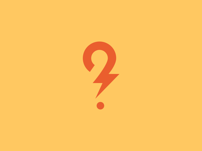 Question Mark Logo question mark game answer logo lightning fast quick