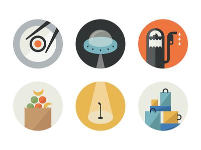 Glyph Profiles glyph profiles icon illustrations flat fun circle