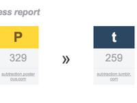 Email migration progress report