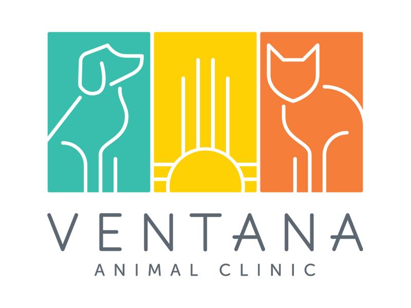 Ventana Animal Clinic Logo southwest logo design logo branding veterinarian cat dog animal new mexico