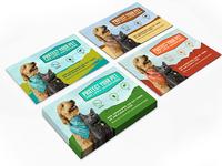 Flea, tick, and heartworm campaign postcards
