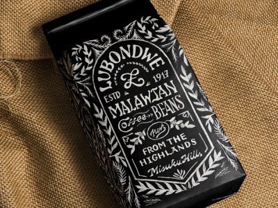 Hand-painted Coffee Mockup coffee labels branding concept branding and identity drawn drawing coffee bag design hand-drawn vintage illustration labels packaging branding design branding coffee