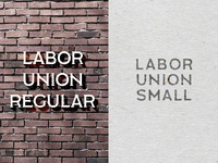 Labor Union Font Family (*Free!!!)