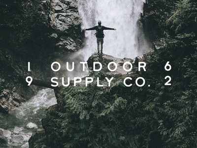 Supply Co adventure supply old vintage font type outdoors travel
