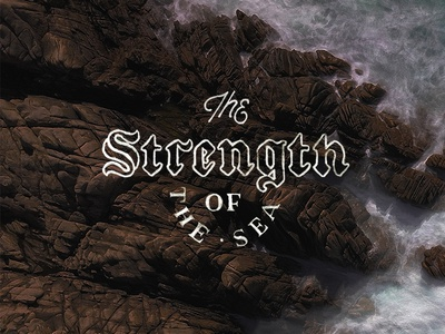 Strength drawn typography vintage nature drawing lettering hand-drawn font type design