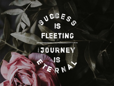 The Journey Is Eternal typography adventure outdoors vintage drawn nature drawing lettering font hand-drawn type design