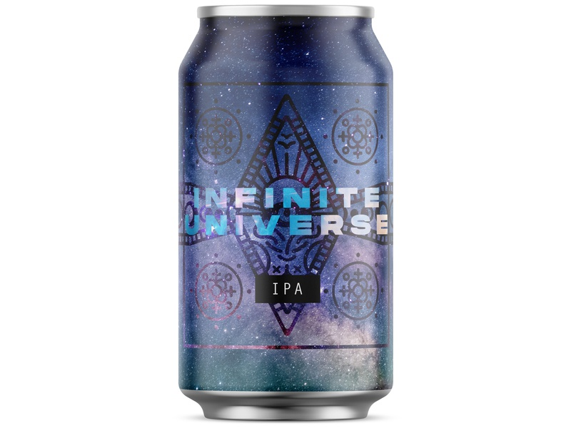 Infinite Universe Beer Can graphic design brewery brew drink local craft ipa stars astral space beer label labels packagedesign packaging beer