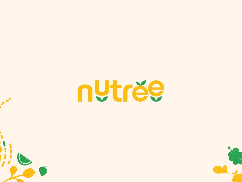 nutrition and tree nature green fruits branding ecommerce fruit