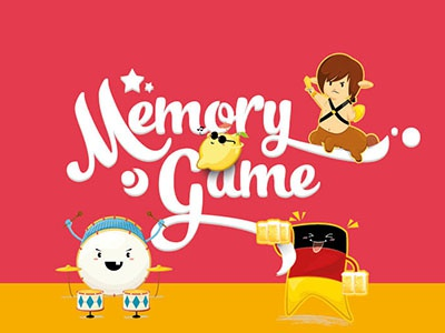 Memory Game illustration memory game character design cartoon chibi