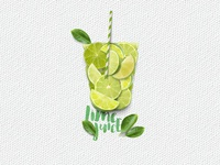 In a cup: Lime Juice