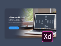 xFlow.mobi Flowchart kit for Adobe XD india designer user flow mobile app ux ui