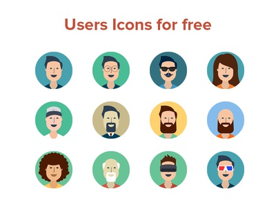 Users Icon Free PSD