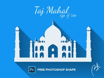 Taj Mahal free photoshop shape