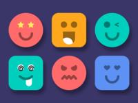 User Face Emoji sketch library