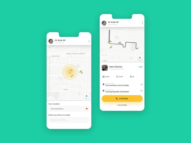 Bike ride app concept