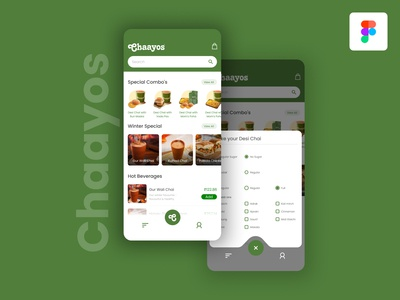 Mobile app concept for Chaayos