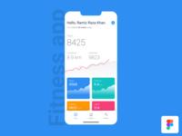 Fitness App designed in Figma statistics ios dribbble design india mobile designer ux app ui