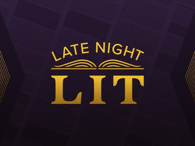 Late Night Lit books sophisticated literature branding logo late night