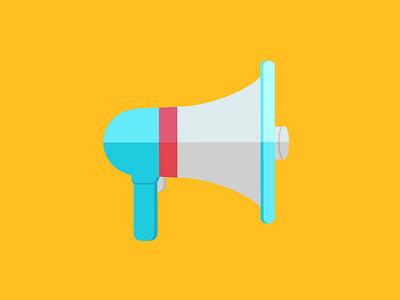 Loudspeaker icon flat illustration announcement loudspeaker