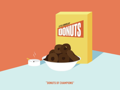 Little Chocolate Donuts saturday night live john belushi illustration nbc nbcuniversal snl donuts chocolate