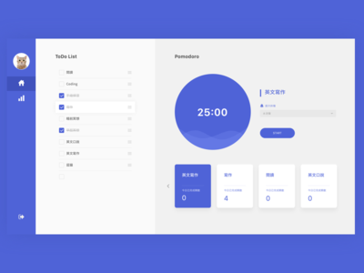 Pomodoro Website UI Design
