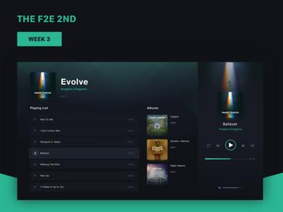Music Player Website UI Design