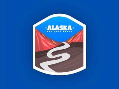 Badge design - Alaska National Parks