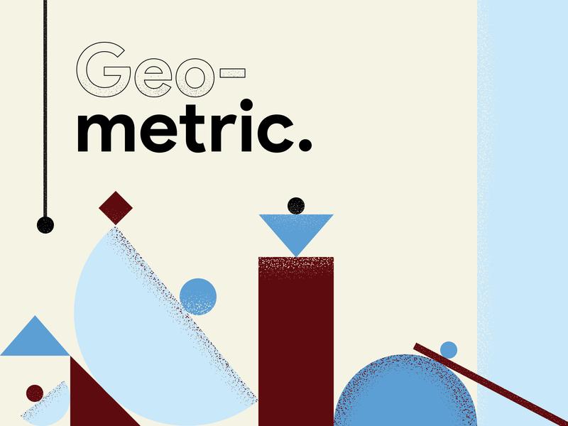 Geometric illustration illustrator branding icon typography poster design logo design vector illustration