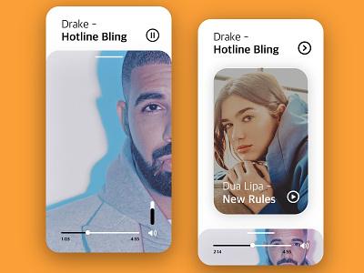 Music App Ui mobile app dailyuichallange adobe xd ui  ux ux design ux design ui 100day daily ui ui ui design