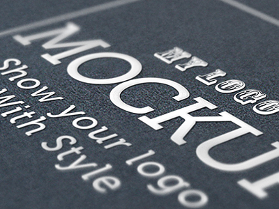 Logo Mockup V2 (sample_04) logo display mock-up logo design realistic photorealistic photograph presentation ad advertising paper art director designer portfolio showcase