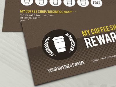 Coffee Shop rewards card vip card loyalty card beer beverages drink burger business exclusive food movie show meal member