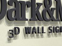 Wall Sign - Logo Mockup