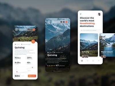 Traveling App trip app design travelling ux ui adventure app