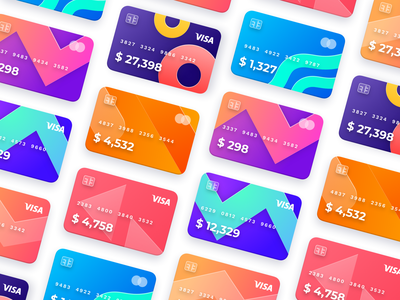 Card details - Banking app bank card animation ux ui mobile finance credit card banking bank app design app