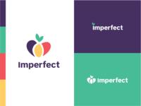 Imperfect Produce :: Branding playful logo vegetables fruit logo mark color palette food produce colors concept brand identity branding logo logo exploration