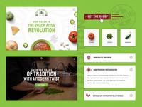 Sam's Famous Salsa :: UI Elements texture fun salsa food startup motion interactions homepage graphics ux ui web design creative