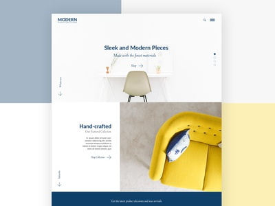 Furniture Store Home Page home page minimal store chair ui furniture store website design