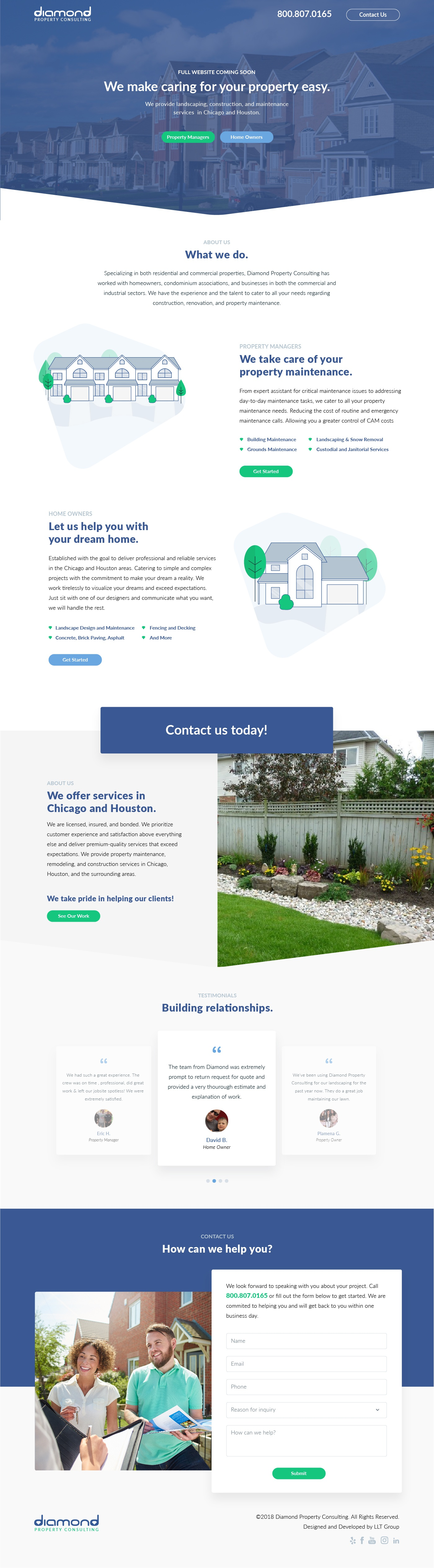 Diamondpropertyconsulting splash page
