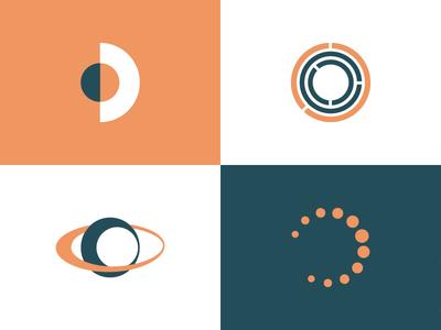 Solarlink :: Logomark Exploration solar optics circle design mark type logo branding