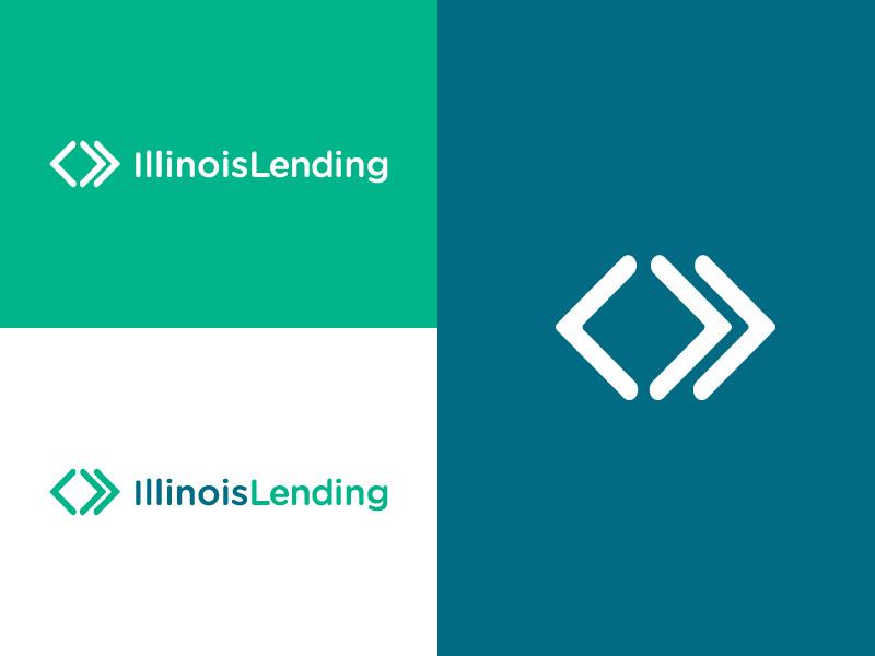 Illinois Lending :: Logo arrows finance loans lending typography design mark type logo branding