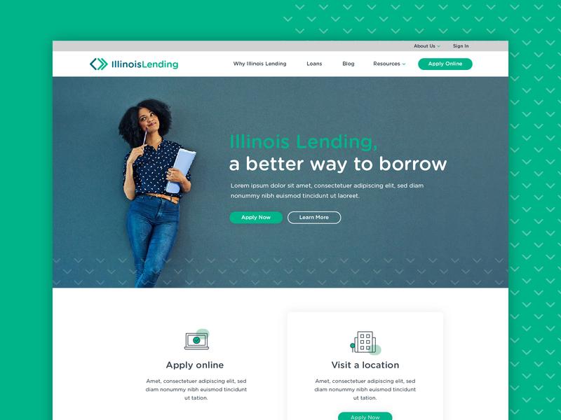 Illinois Lending :: Homepage apply finance loans lending homepage ux ui web design web