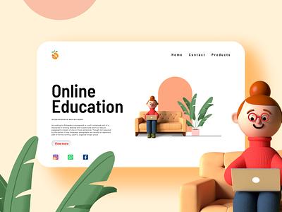 Online education logo ui branding christeena illustration chumma.design chumma illustrator design