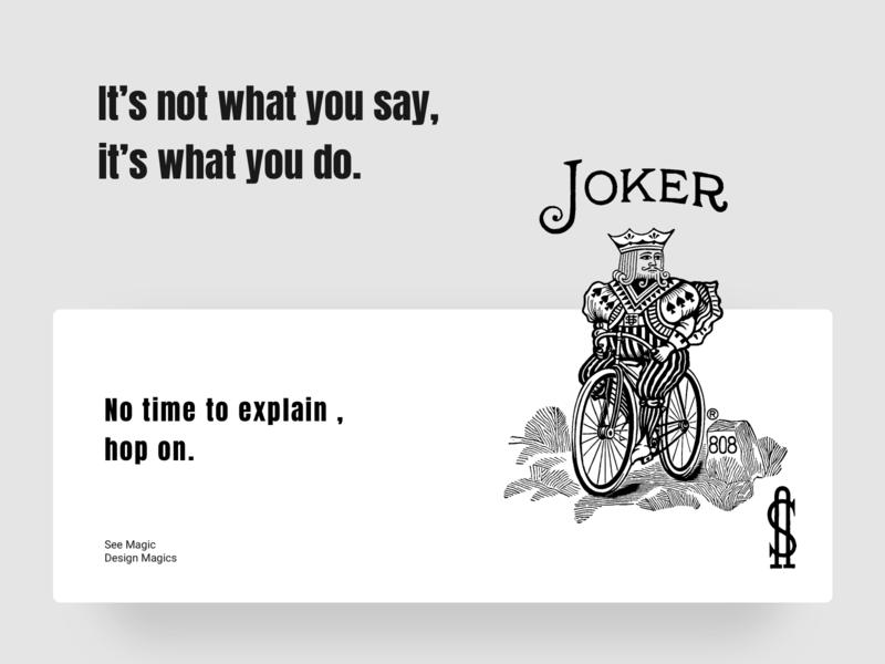 Joker No Time to Explain $ what 404 web hop on design chumma illustrator joker